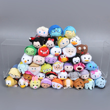 3pcs TSUM TSUM TOY 2016 Animation Plush Dolls Mouse Olaf Cat Three Eyes Dale Dumbo Plush Pendant Doll Kids Toys Screen Cleaner