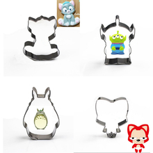 Four kinds of hot sale cartoon cookie mold totoro Alien cat fox cookie cutter
