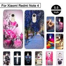 Xiaomi Redmi Note 4 Case TPU Soft Silicone Mobile Phone Back Cover Case Xiaomi Redmi Note 4 Luxury Protector Coque Capa