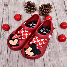 2017 Mini Melissa Mickey & Minnie Jelly Shoes Boys Girls Sandals Soft Comfort Toddler Baby Girl Sandals Beach Sandals for Kids