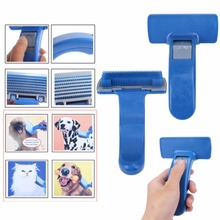 1Pc Pet Brush Grooming Tools Puppy Dog Cats Self Cleaning Combs Hair Trimmer Platic Massage Comb for Pets