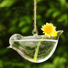 Clear Bird Glass Vase Bottle Terrarium Hydroponic Container Planter Flower DIY Wedding Garden Decor