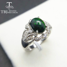 TBJ,Black Ethiopian Opal Oval cut 7*9mm 2ct natural gemstone classic ring in 925 sterling silver gemstone jewelry with gift box