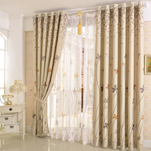 curtains cloth for living dining room bedroom modern minimalist European Korean country style 1pc curtain + 1pc Tulle