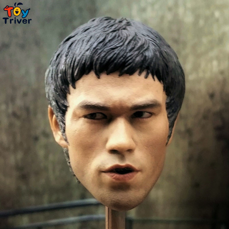 1/6 Scale Bruce Lee Head Sculpt Game of Death KungFu Star Headplay Head Carving For Hot Toys Figure Body 12 Action Figure Doll<br><br>Aliexpress