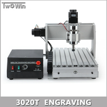 300W MACH3 Control Diy 3020T Mini CNC Machine, Working Area 300 x 200 x 45mm, 3Axis Pcb Milling Machine, Wood Router, cnc router
