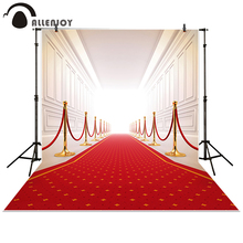 Allenjoy photography backdrops Wedding background red carpet gallery palace photo studio props photobooth photocall