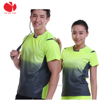 top quality 2017 men women tennis shirts sporting quick dry breathable badminton jerseys for male female comfortable tennis tops(China)
