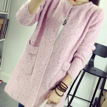 Long Cardigan Women 2016 New Fashion Autumn Winter Knitted Sweaters Women Female Cardigans Warm Long Sweater Coats For Women