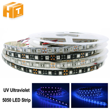 UV Ultraviolet Led Strip 5050 60LEDs/m DC12V Waterproof / Non Waterproof Neon Tape lamp 5M(China)