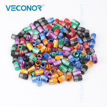 Veconor 20pcs lot universal aluminum car truck bike motorcycle tyre tire valve core caps wheel valve stem cap dust cover(China)
