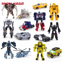 1PC new 8cm super hero Transformation Kids Classic Robot Cars model Toys For Children boy anime Action & Figures Toy movie&tv