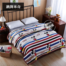 "Cozzy 2016 New Stripes & Dots ""Sea Service"" Plush Velvet Blanket on Bed Sofa Travel Blue Red 120x200 150x200 180x200 200x230cm(China)"