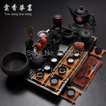 Best crafts gift 42pcs\set large kungfu pu er tea sets ceramics classtic china tea sets tea tools fast free shipping