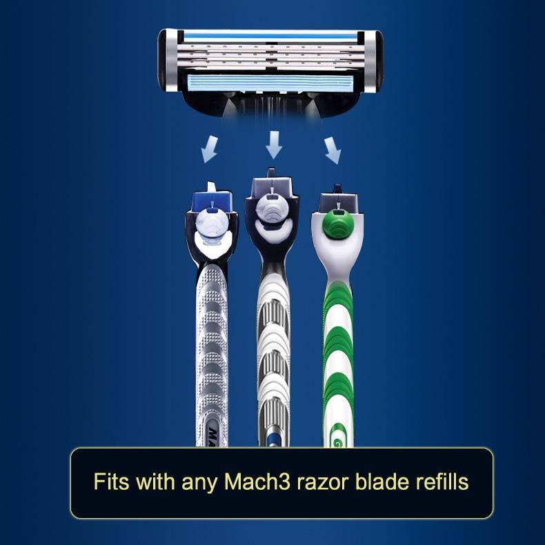 4  Gillette Mach 3 Safety Razor Shaving Razor Shaving Blades Double Edges Beard Shaver Shave 1 Razor Holder 1 Blade
