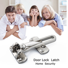 Door Buckle Lock Door Guard Security Buckle Chain Door Hinges DIY Bolt Safe Locks Cabinet Latches Hardware For Home Security(China)