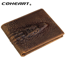 Fashion crocodile wallet leather purse Top Quality mens wallets brand luxury male monederos money crazy horse purses designer