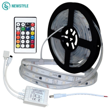 Newest DC12V WS2818B led Strip Waterproof IP20/IP67 Led Light Tape+ 24key controller set hundreds of lighting effect(China)