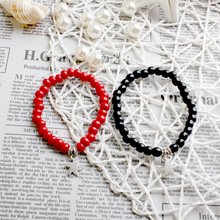 Wholesale Fresh Ceramic Hand String Jewelry Red Beads Black Bracelet To Spread The Goods