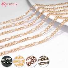 Buy , 202605 Meters Chain width:2.5MM Copper 3+1 Figaro Chains Special Link Chains Necklace Chains Diy Jewelry Findings Accessories for $3.96 in AliExpress store