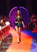 Purple feather angel wings props catwalk show props festival Angel Feather wings Window props underwear catwalk(China)