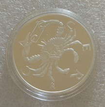 Cancer signs of the zodiac medal coin USA DOLLAR EURO BANKNOTE(China)