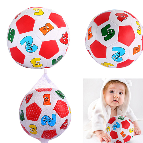 JETTING Baby Toys Baby Kids Early Education Football Toys Alphabet Number Learning Ringing Rubber Ball(China (Mainland))