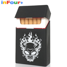 Skull Silicone Cigarette Case Silicone Box Lady 20 Women Cigaret Box Cigarette Box Case Pitillera De Silicona Cigarete Case(China)