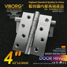"VIBORG Top Quality 4"" 304 Stainless Steel Casting Extra-thick Smooth&Quiet Ball Bearing Door Hinges, brushed(China)"