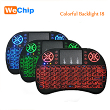 Original Backlight i8 English 2.4GHz Wireless Keyboard Air Mouse Touchpad Handheld Backlit for Android TV BOX Mini PC 3 Colors(China)
