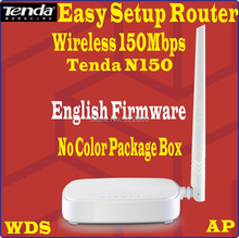 Eng-Firmware TENDA 150Mbps WiFi Wireless N150 Home Router Easy Install PPoE Router 150M WISP, 4 ports, No Color Package Box