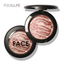 Rosalind Top Quality Professional Cheek 6 Colors Makeup Baked Blush Bronzer Blusher With Brush Brand Focallure