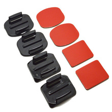 gopro accessories flat arc base each 2 each with a red double-sided adhesive GP09  arc the base of each imported red gum