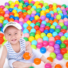 10PCS Plastic Baby Balls Pit Ball Soft Plastic Ocean Ball Funny Baby Toys Kid Swim Pit Toy Water Pool Ocean Wave Ball PX40(China)