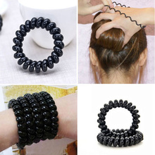 5Pcs/Lot Women Colorful Elastic Hair Bands Rubber Hairband Telephone Wire Rope HairBand Girls Hair Accessories