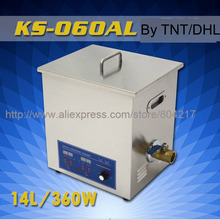 14L Industrial Digital Powerful Ultrasonic Cleaner KS-060AL 360W 28-40KHz Ultrasonic Washing Machine+basket