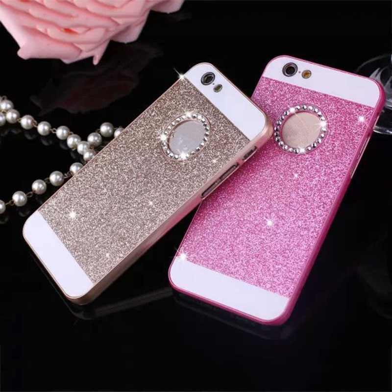 Luxury Bling Diamond Glitter Powder Phone Cases For iphone 7 6 6S Plus SE 5 5S Case Fashion Crystal Hard Plastic Back Cover Capa(China)
