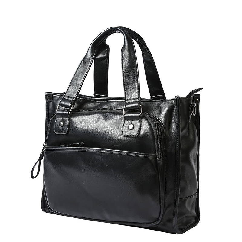 New Arrival Business Totes Bag Briefcase Portfolio Leather Handbag Large Capacity Laptop Hanbags For Man<br>