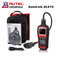 Original Autel Autolink AL619 ABS/SRS + CAN OBDII Code Reader Turn off Check Engine Light clears codes resets monitors