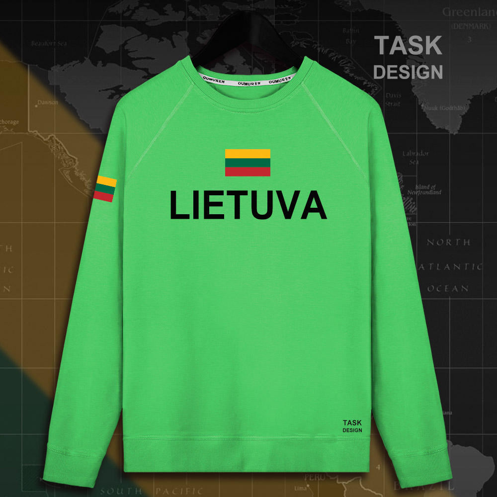 Lithuania Lithuanian LTU Lietuva Lietuvos men hoodie pullovers hoodies men sweatshirt new streetwear clothing Sportswear tracks 7