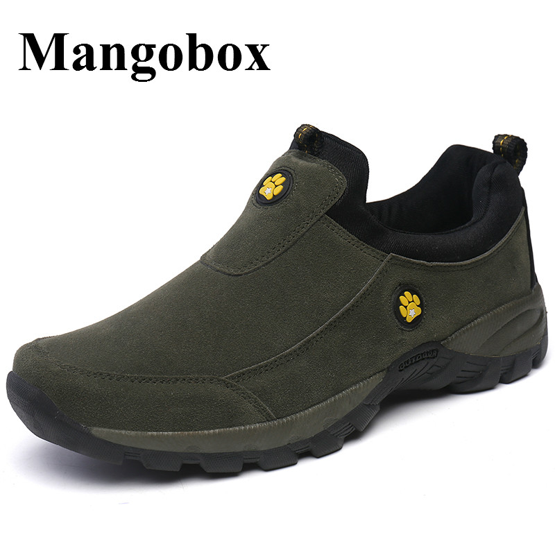2016 Outdoor Shoes Men Climbing Slip On Men Shoes Sport Spring/Autumn Mens Hiking Sneakers Large Size Mountain Man Trainers<br>