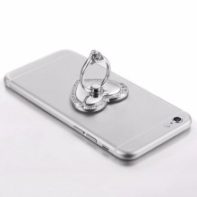Mobile Phone Unique Ring Support Mobile Phone Holder Diamond Stand Metal Love Lazy Support Romantic Design(China)