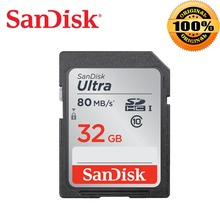 SanDisk Ultra 32GB 16GB 64GB Class 10 SD SDHC SDXC Memory Card in SD card 128GB 80MB/s Compact Flash CF Card for Camera(China)