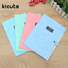 Kicute New Affordable Waterproof A4 Paper File Folder Bag Accordion Style Design Document Rectangle Office School Color Random