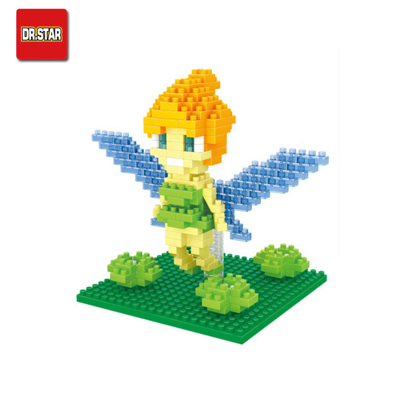 Tinker Bell Mini Action Figures Flower Flying Fairy Doll DIY Building Blocks Toy Classical Birthday Present Gift for Girls<br><br>Aliexpress