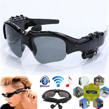UV Sunglasses Bluetooth talk function Stereo Headset headphone Sun Glasses Micphone free shipping