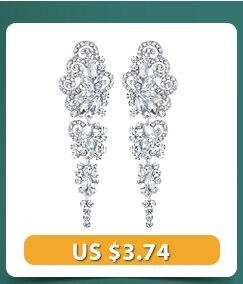 Minmin Vintage Black Color Crystal Drop Earrings for Women Elegant Vase Shape Long Earrings Fashion Jewelry 2018 New Party EH291