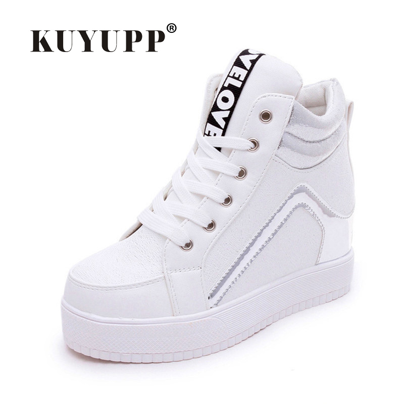 2017 Fashion Hide Heel Women Casual Shoes High Top Mixed Colors Platform Shoes Woman Lace Up Wedges Spring Ladies Shoes S28<br><br>Aliexpress