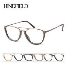 5a9cb6256e3c9 HINDFIELD Retro Acetato de Vidros Ópticos Quadro Mulheres Designer de Marca  Do Vintage Óculos de Armação Homens oculos de grau m.