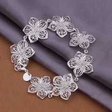 H317 Promotion silver Bangle Bracelet Rose Flower womoen sexy Wholesale Price Freeshipping Factory Direct Sale KITEAL jewelry(China)